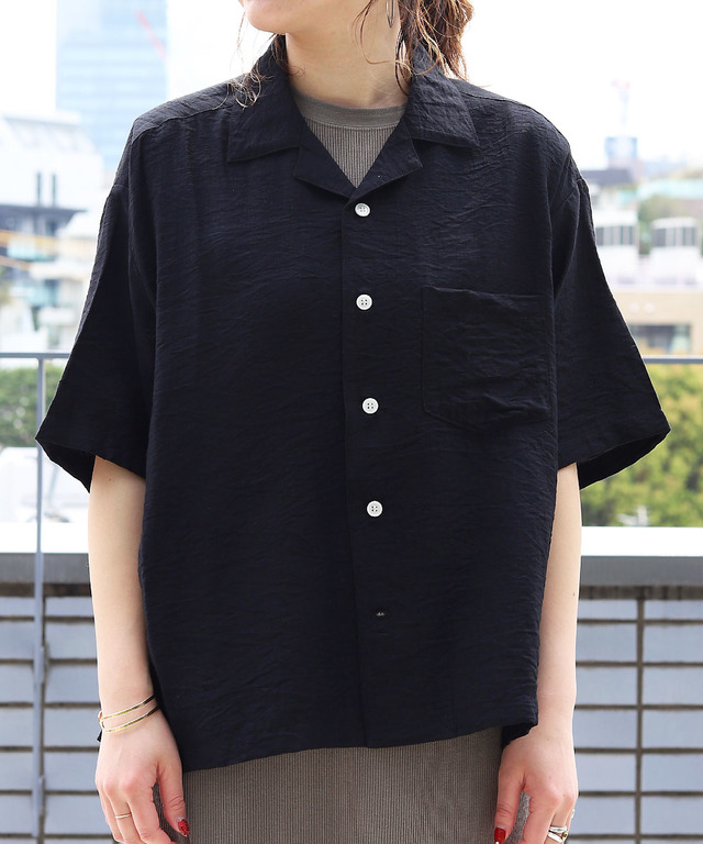 【WEB限定】開襟オープンカラーシャツ
