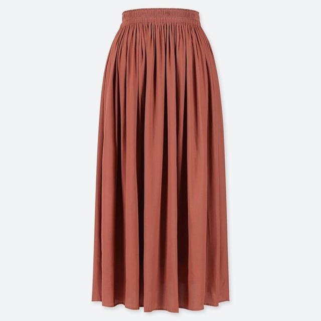 ギャザーロングスカート(丈標準81~85cm)