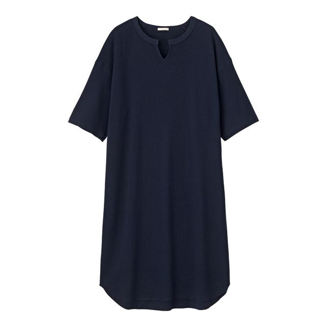 キーネックTワンピース(5分袖)