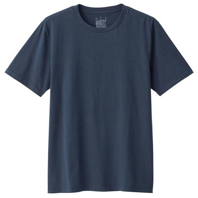 天竺編みクルーネック半袖Tシャツ