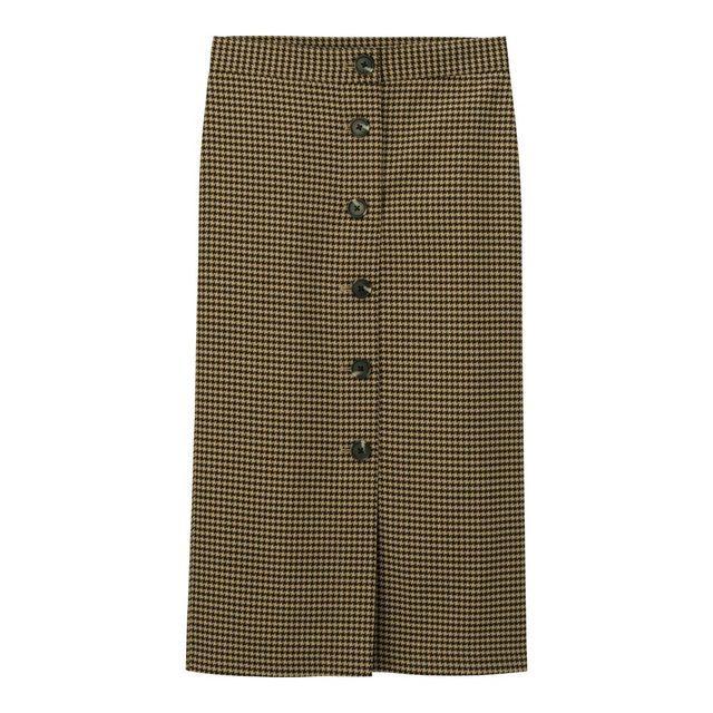 チドリフロントボタンナロースカート