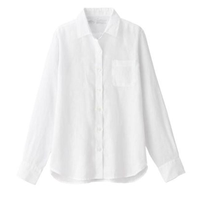 オーガニックリネン洗いざらしシャツ