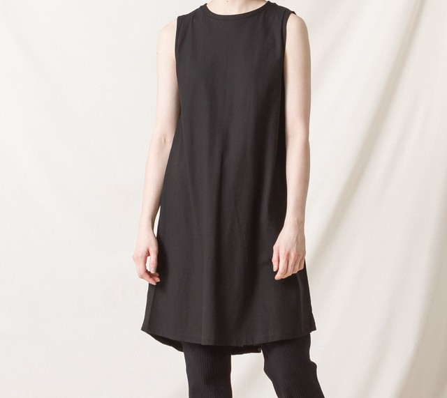 High-Twist Cotton Sleeveless Dress