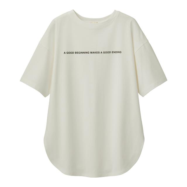 オーバーサイズロゴT(5分袖)B