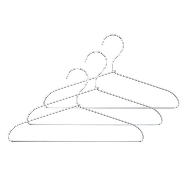 アルミ洗濯用ハンガー・3本組 約幅33cm