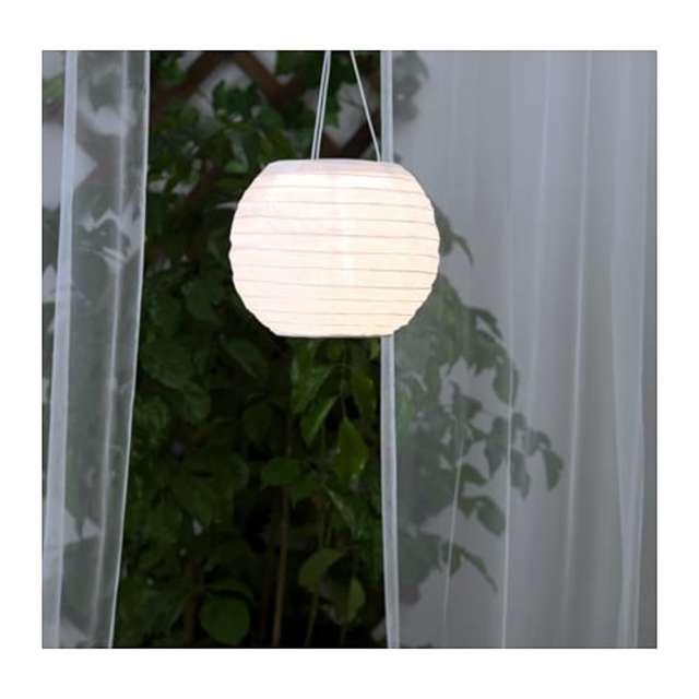 SOLVINDEN ソルヴィンデン LED太陽電池式ペンダントランプ, 屋外用, 球形 ホワイト