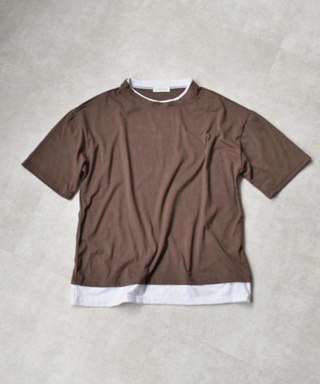 オーバーサイズ レイヤードTシャツ