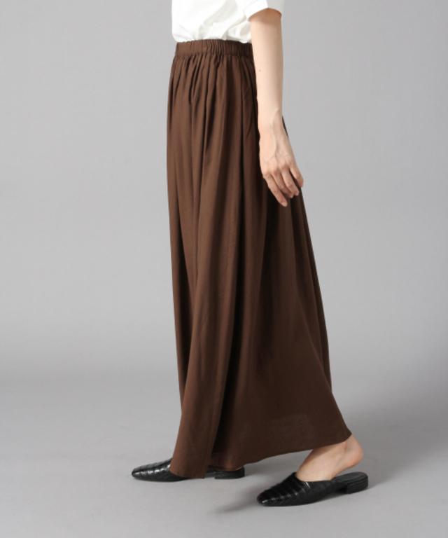 フレンチリネンボイルスカート