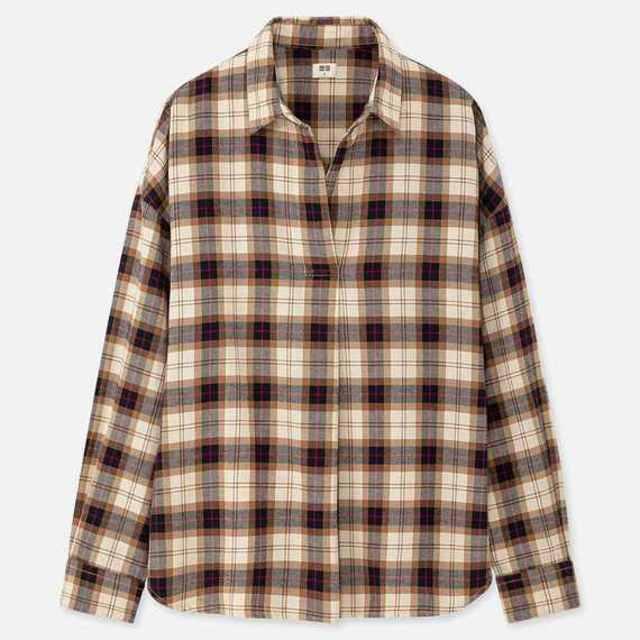 フランネルチェックスキッパーシャツ(長袖)