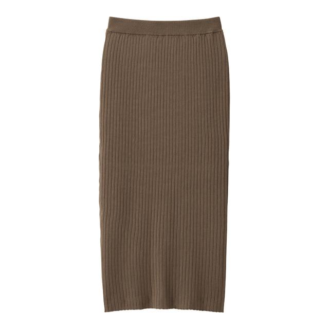 ワイドリブニットナロースカート