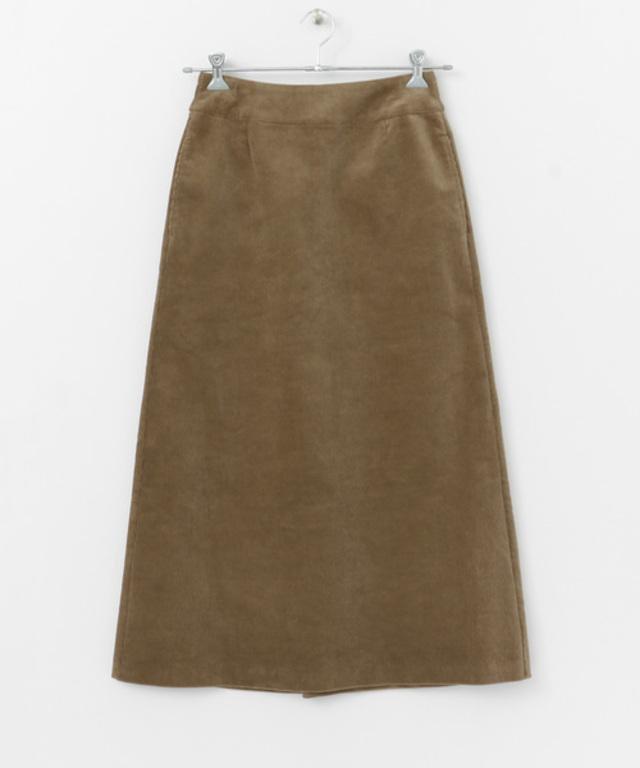 コーデュロイバックタックAラインスカート