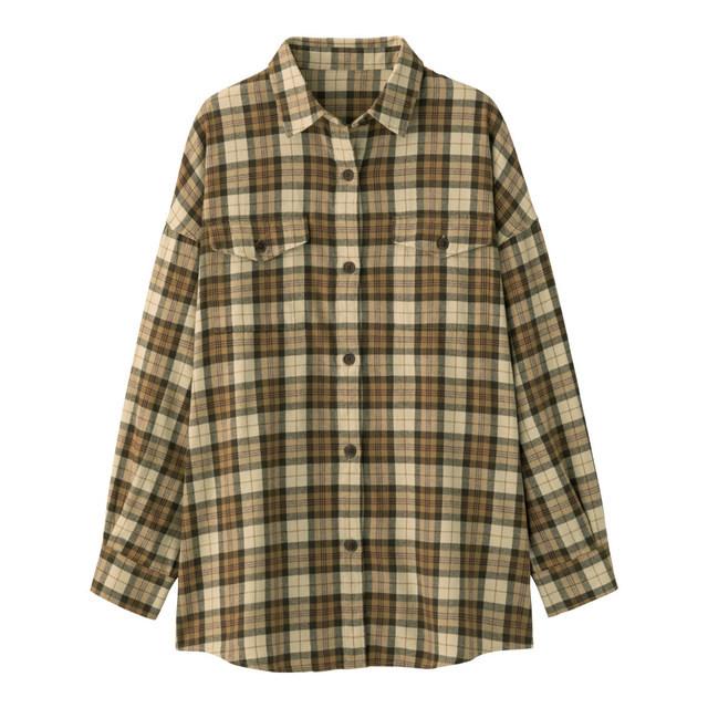 フランネルチェックロングシャツ(長袖)