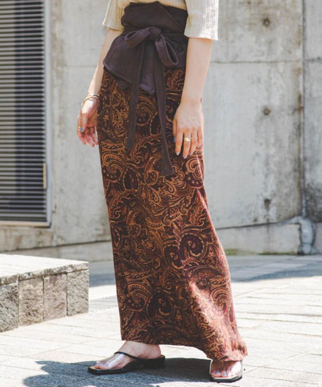 ペイズリーIラインスカート