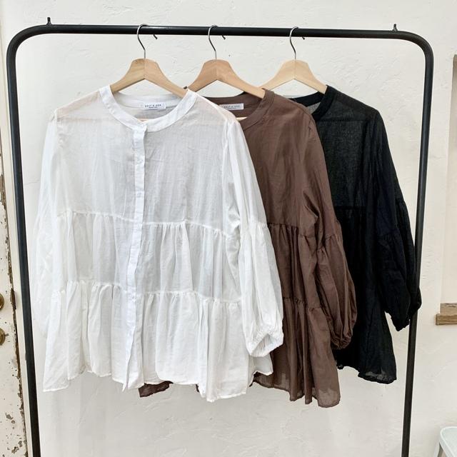 2wayティアードシャツ