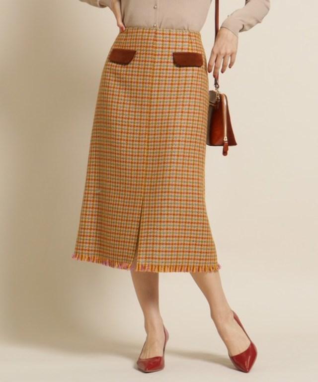 specialforanatelier(スペシャルフォーアナトリエ)千鳥格子スカート
