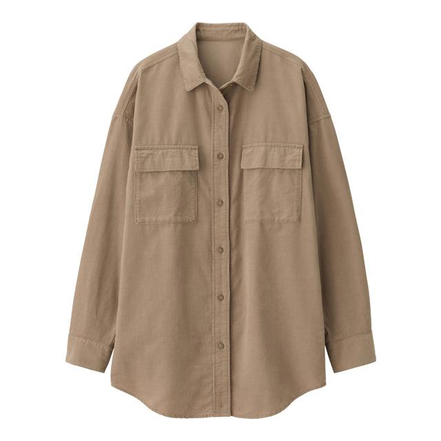 コーデュロイオーバーサイズシャツ