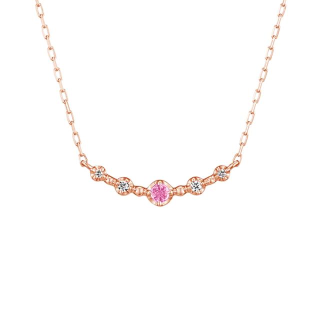 【10月誕生石】K10ピンクゴールド ネックレス