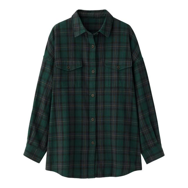 フランネルチェックロングシャツ(長袖)B