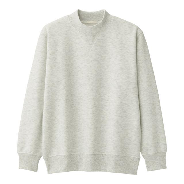 スウェットモックネックシャツ(長袖)