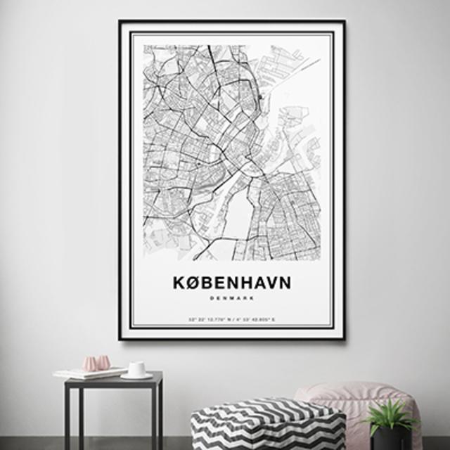 北欧アートポスター-City Maps-Copenhagen