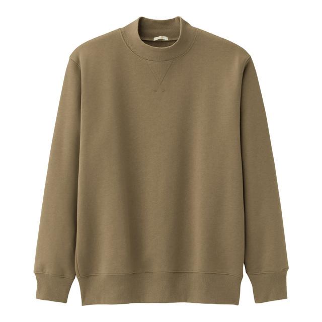 スウェットモックネックシャツ