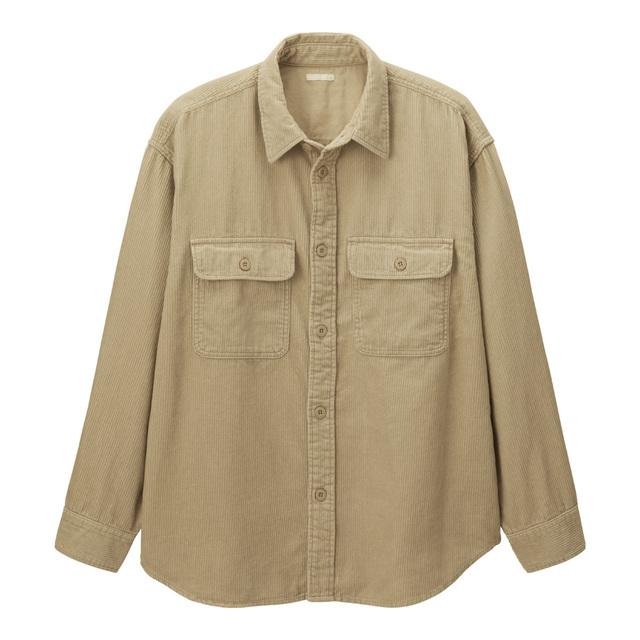 コーデュロイビッグシャツ(長袖)