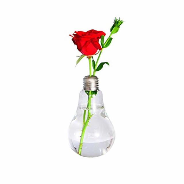 電球ガラス花プランター
