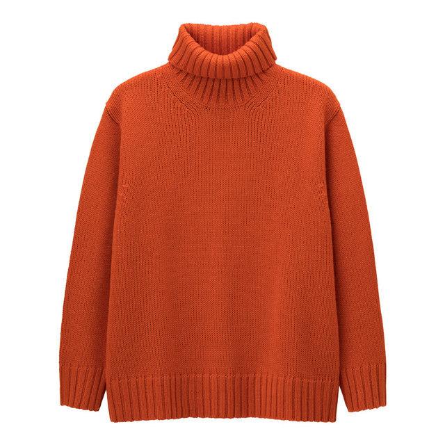 MENローゲージタートルネックセーター