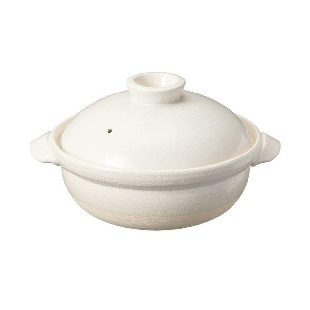 土鍋 白釉・2~3人用・約1600ml