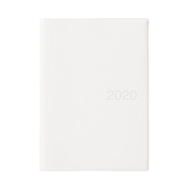 上質紙マンスリーウィークリーノート・2019年12月始まり B6・ホワイトグレー