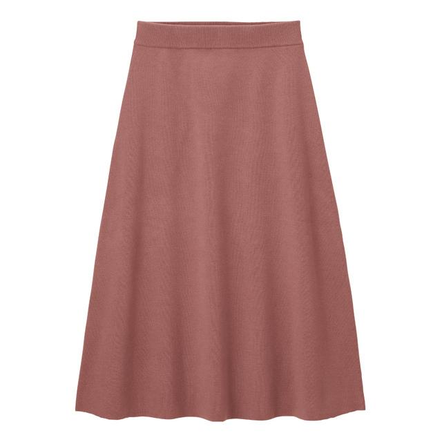 フレアミディニットスカート