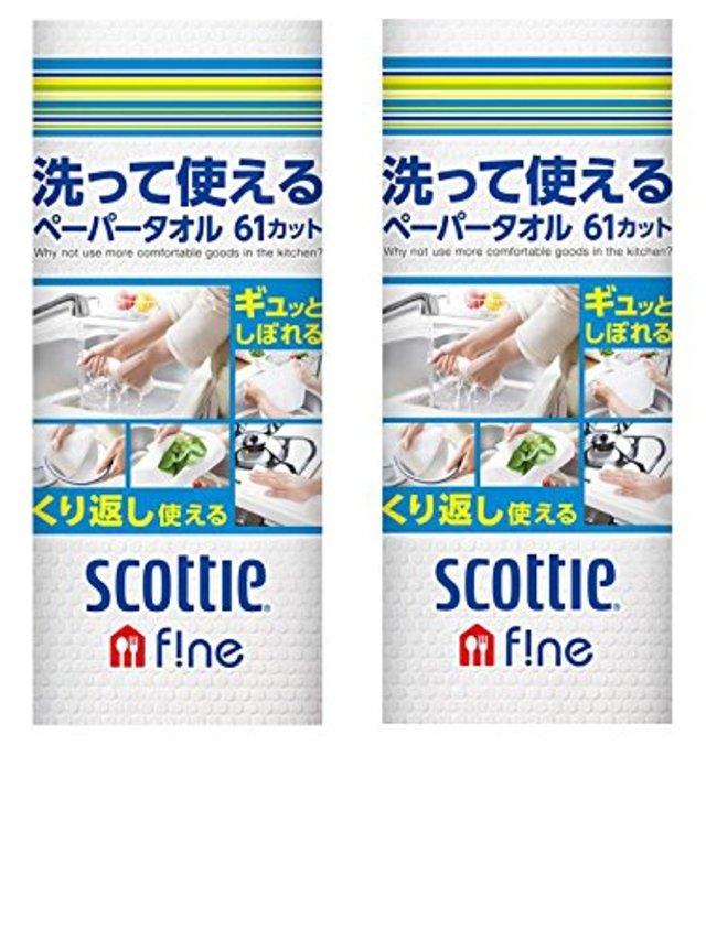 洗って使えるペーパータオル 61カット ×2セット