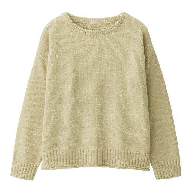 モールヤーンクルーネックセーター