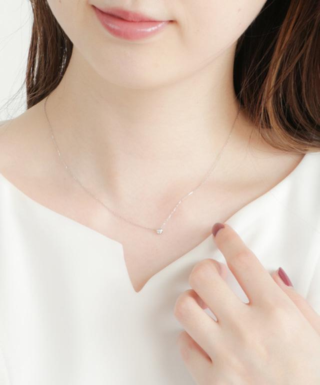 PT900 ダイヤモンド ネックレス「ブライト」