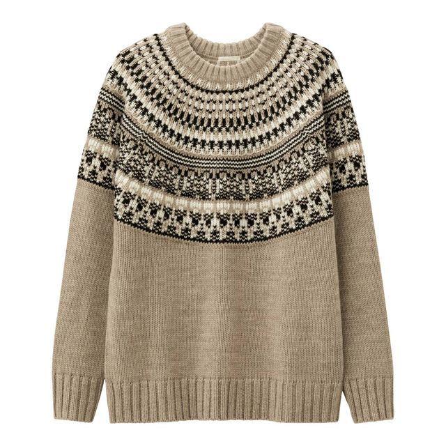 ローゲージノルディックセーター