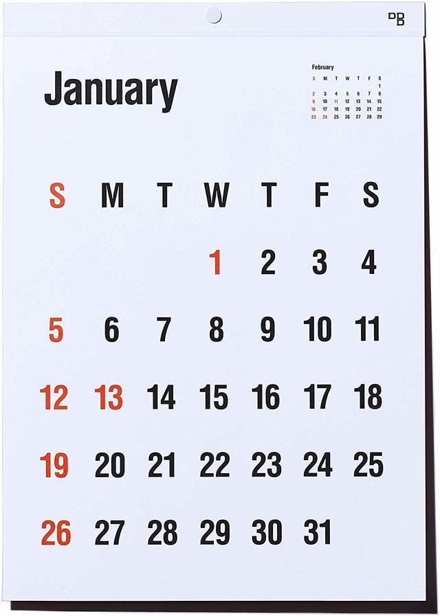 ディーブロス 2020 カレンダー Typeface 壁掛け