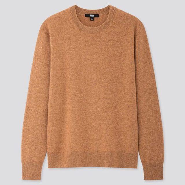 カシミヤクルーネックセーター(長袖)
