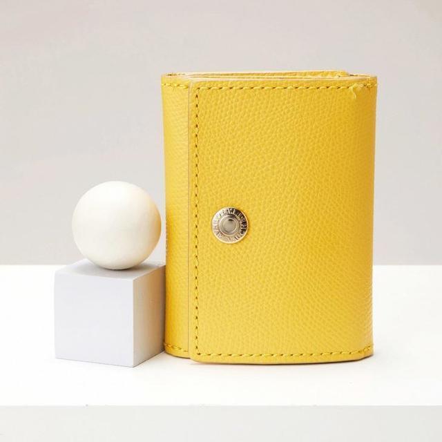 長財布に匹敵する優秀レザーミニ財布♡「TOPKAPI」角シボ型押し3色