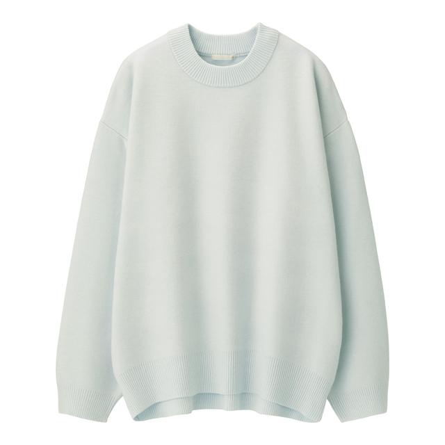 スウェットライクオーバーサイズセーター(長袖)