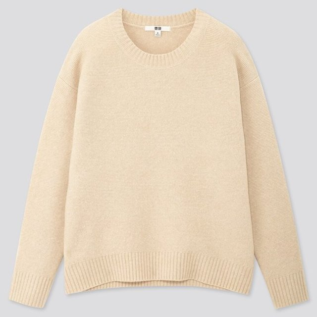 ライトスフレヤーンリラックスクルーネックセーター