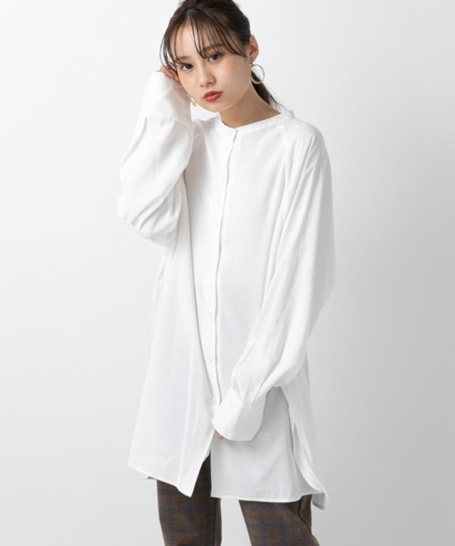 BACKリボンロングシャツ