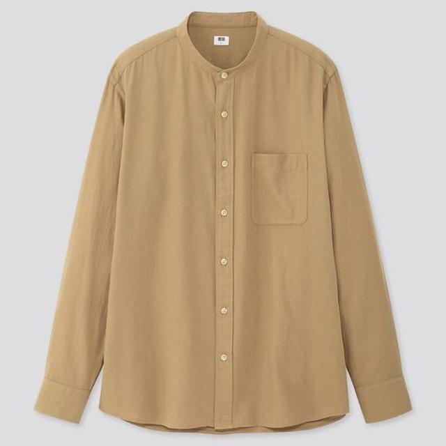ソフトツイルスタンドカラーシャツ(メンズ)