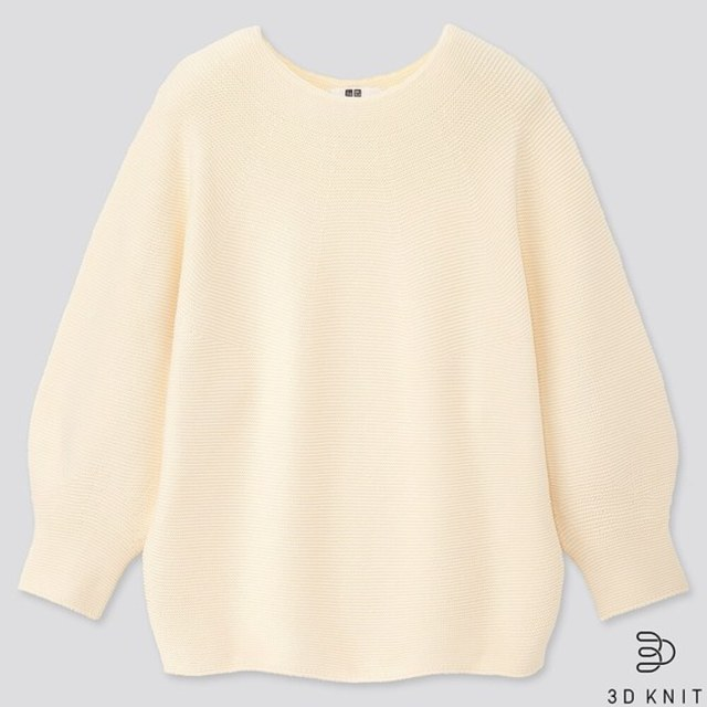 3Dコットンバルーンスリーブセーター