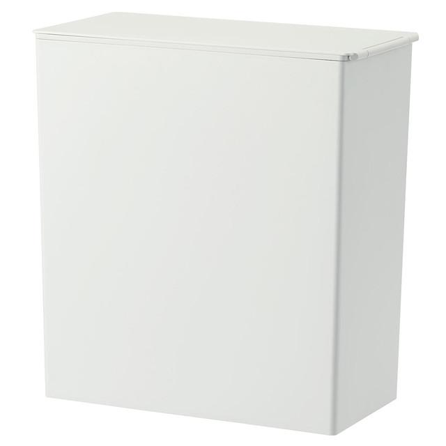 ポリプロピレンごみ箱・角型・袋止め付/大(約11L) 約幅15.5×奥行30×高31cm