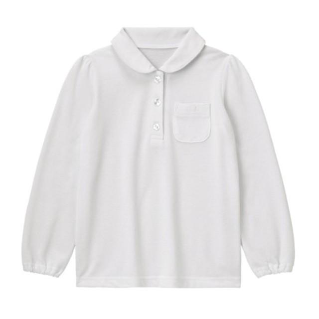 ドライガールズ長袖ポロシャツ【子供服 通園 通学】90~130