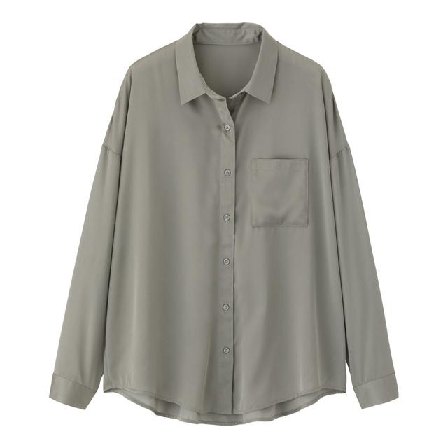 シアーオーバーサイズシャツ
