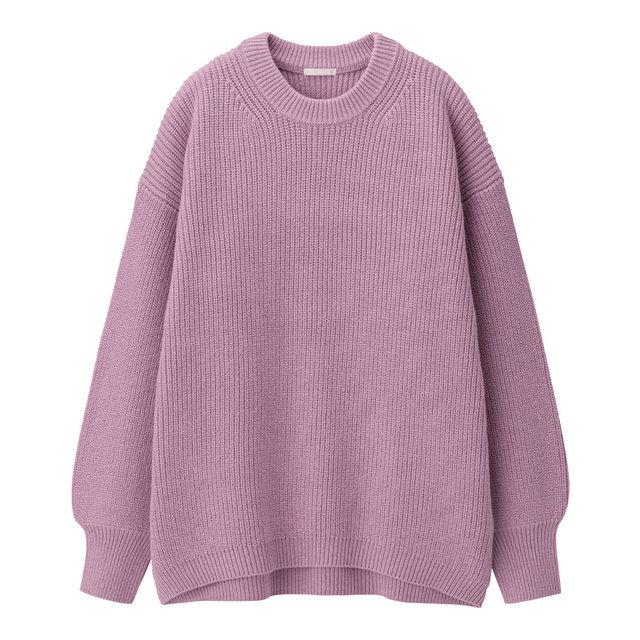 コットンブレンドオーバーサイズセーター(長袖)