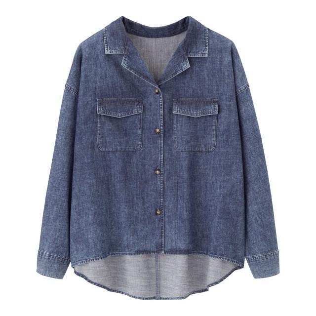 デニムオーバーサイズワークシャツ(長袖)JN+X