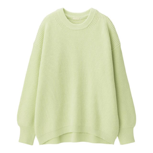 コットンブレンドオーバーサイズセーター