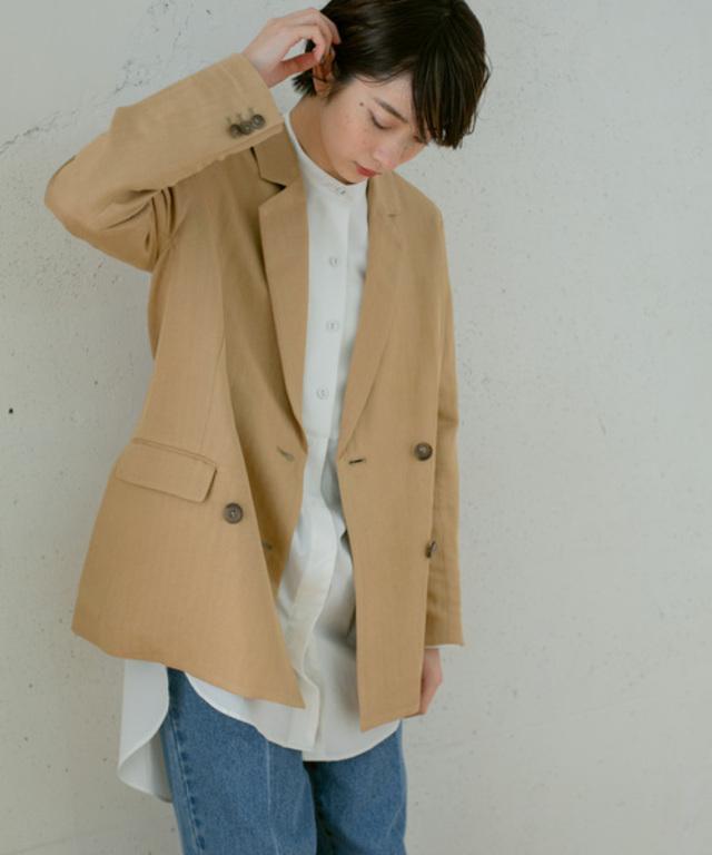 ヘリンボンWブレストジャケット